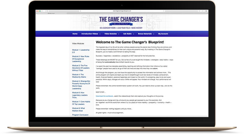 The Game Changer's Blueprint Community