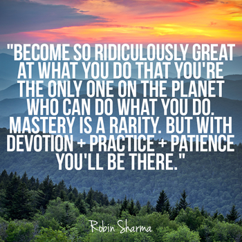 Become so ridiculously great at what you do that you're the only one on the planet who can do what you do. Mastery is a rarity. But with devotion + practice + patience you'll be there.
