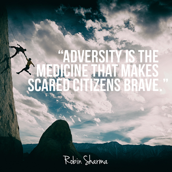 Adversity is the medicine that makes scared citizens brave‎.
