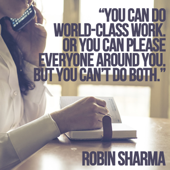 You can do world-class work. Or you can please everyone around you. But you can't do both.