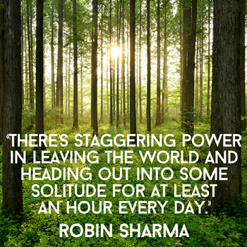 There's staggering power in leaving the world and heading out into some solitude for at least an hour every day.