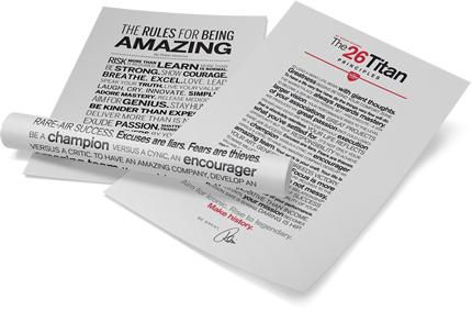 The 26 Titan Principles & Rules for Being Amazing